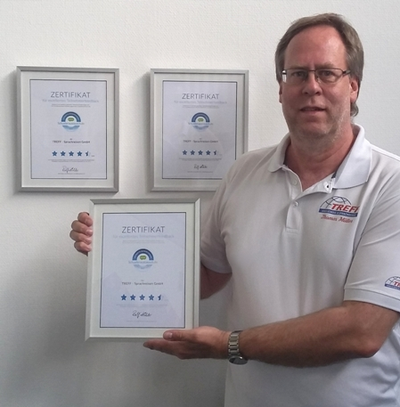 TREFF erhält zum dritten Mal in Folge das Zertifikat für exzellentes Teilnehmerfeedback